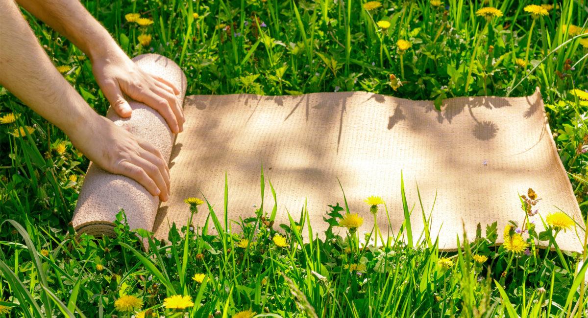 tappettino yoga ecologico